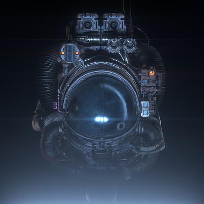 Antoni depowski astronaut blue