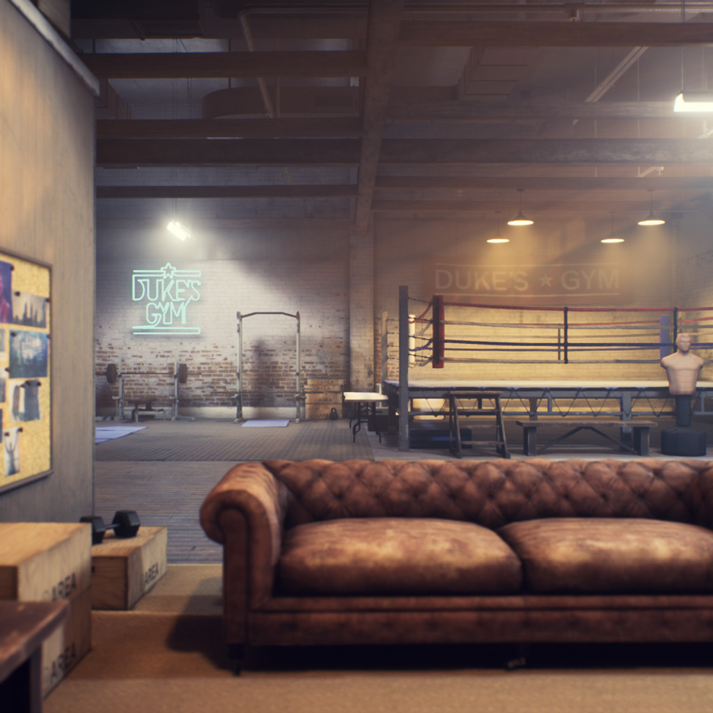 Boxing Gym Lighting Study #2