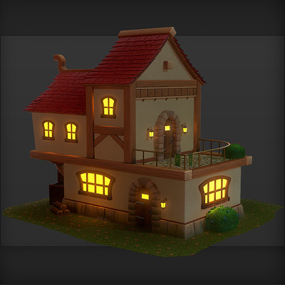 Brett murphy stylized fantasy house tumb