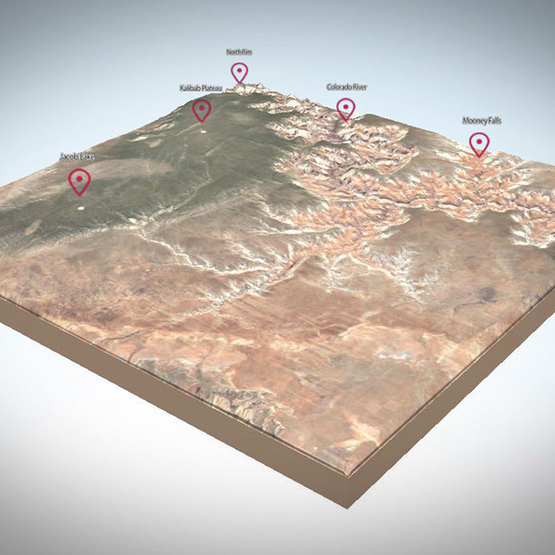 WebGL Grand Canyon 3D Map
