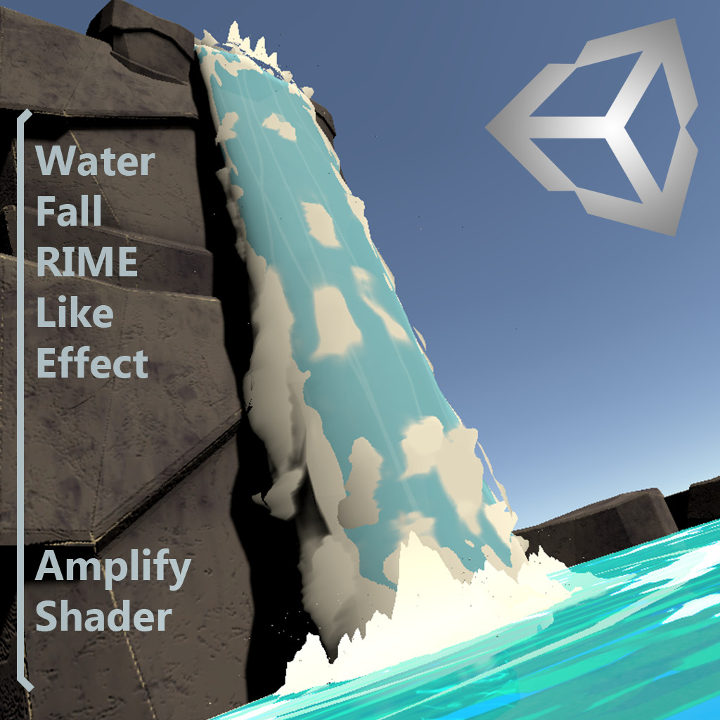 ArtStation - Water Fall RIME Like Effect - Amplify Shader