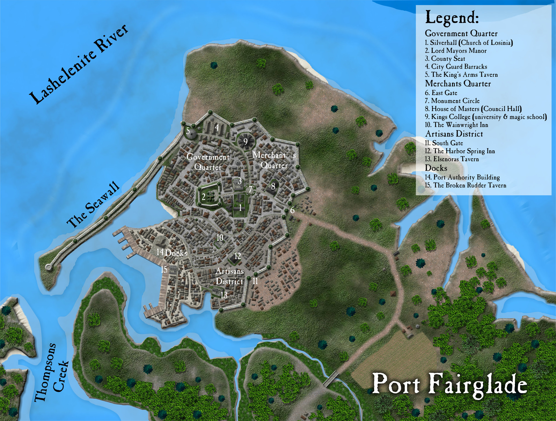 ArtStation - Assorted City and Town Maps, Michael Tumey