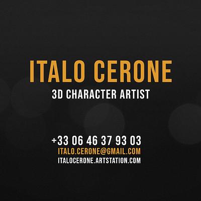 Italo cerone italo cerone 3d character artist