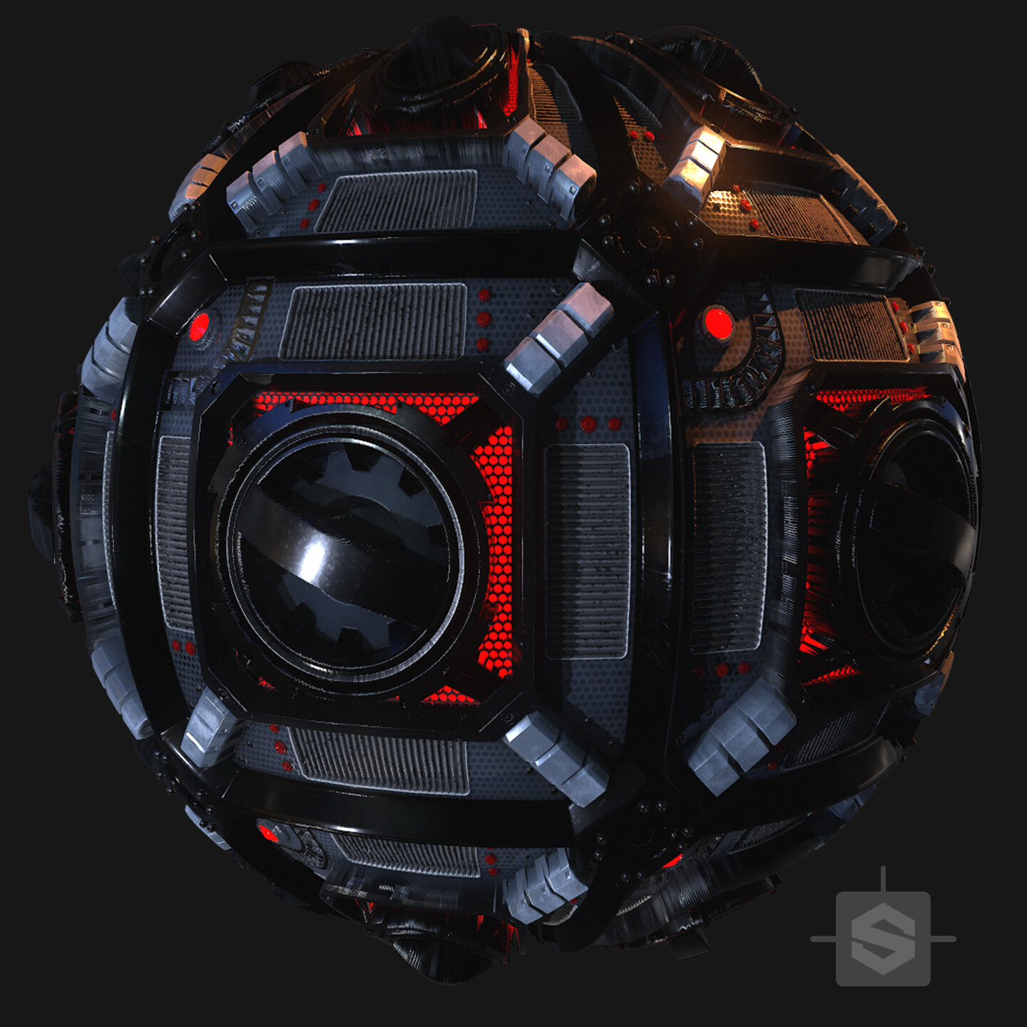 Substance Designer - SciFi Hatch