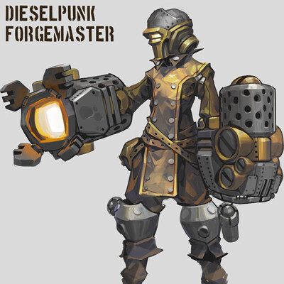 Dieselpunk Character Design