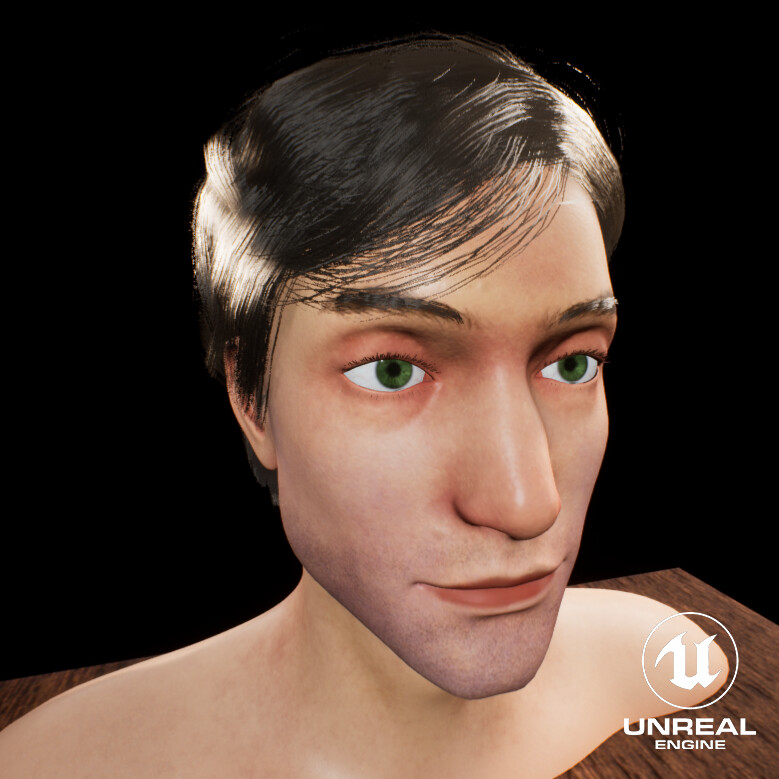 Haircard processes, Texturing, Unreal engine
