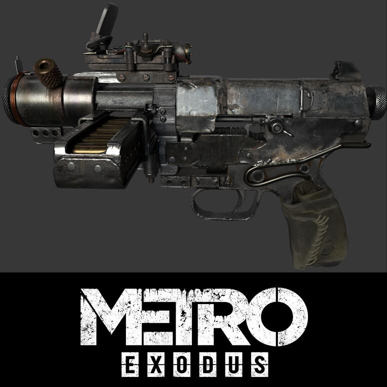 Artyom pistol textures from Metro Exodus Cinematic Trailer