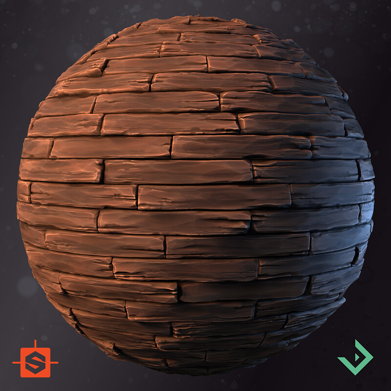 Stylized Material Studies - Wooden Floor Planks