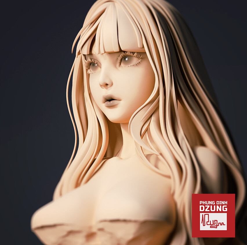 Silent Witch - Bust Sculpt