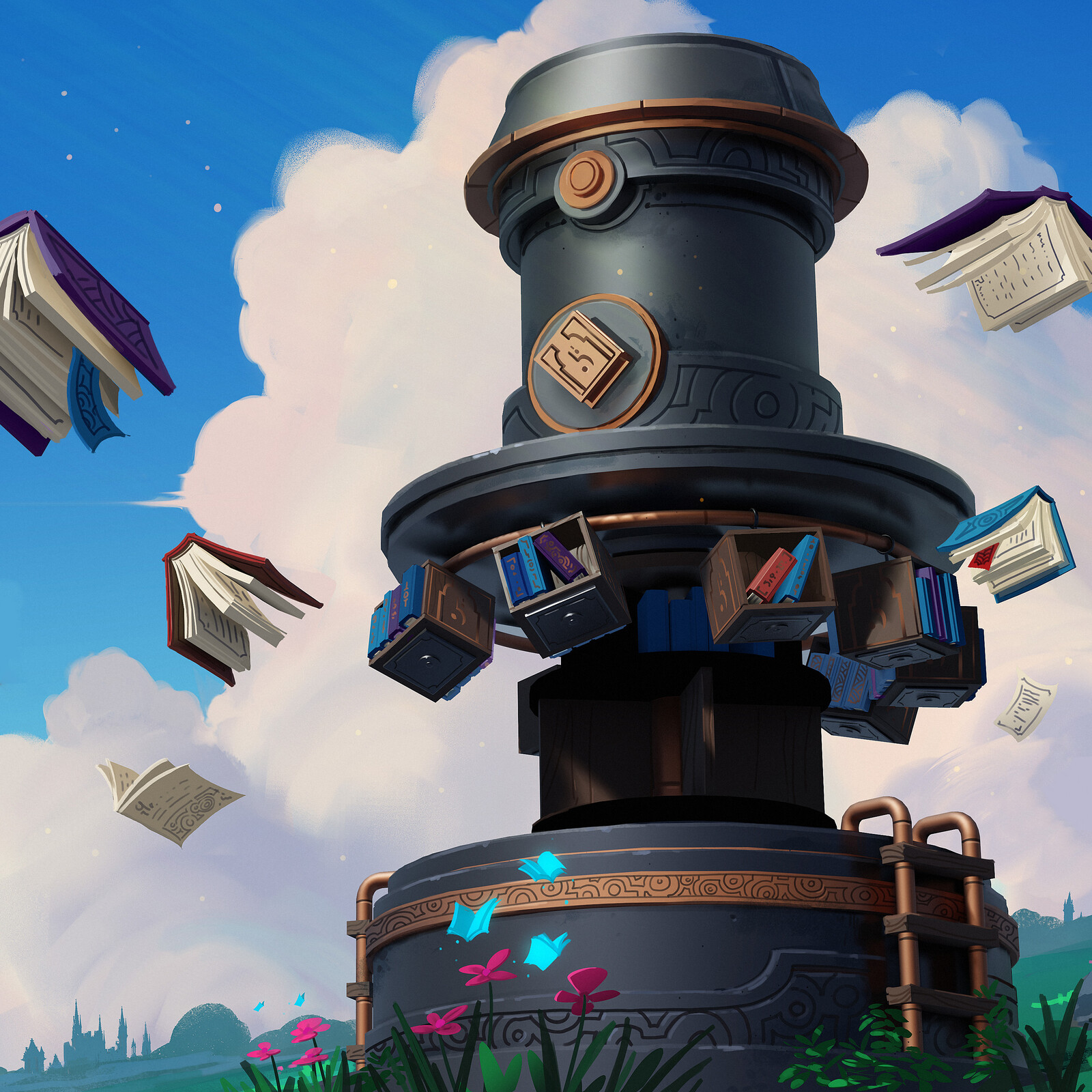 The Tome Trading Tower