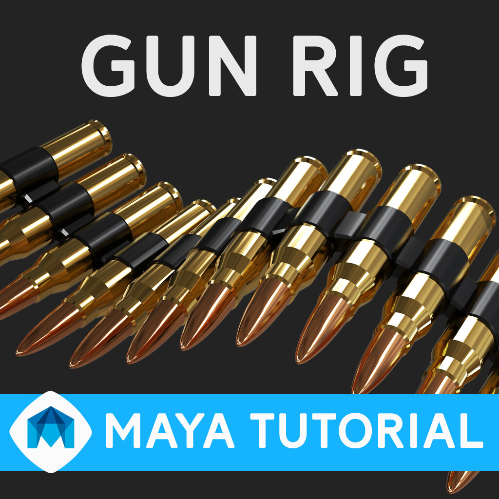 Artstation how to rig a machine gun in maya simon mills