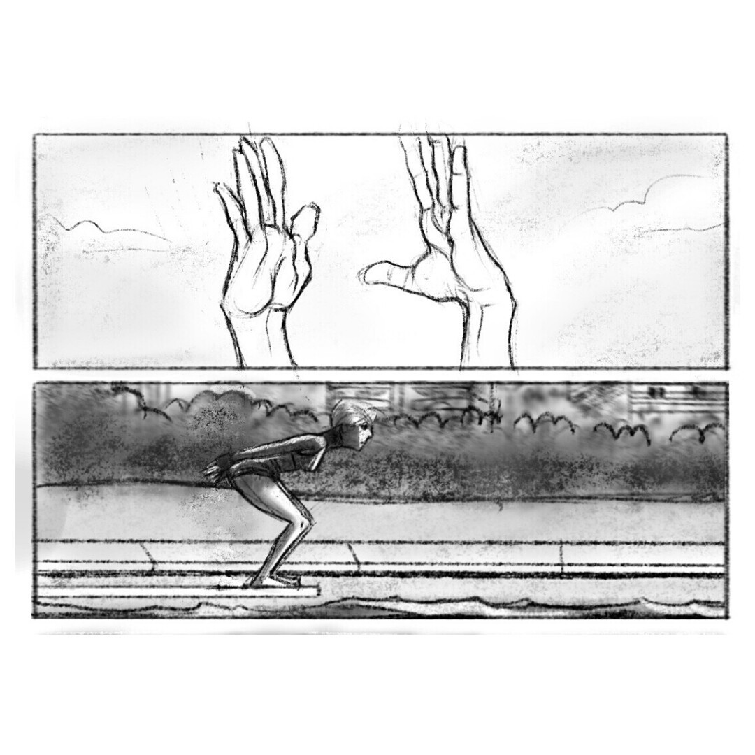 Storyboards for advertising spots and films