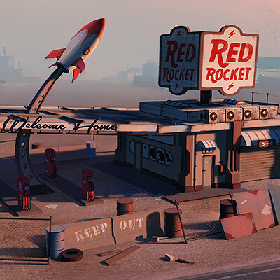 Edgaras cernikas red rocket gas station thumb 400x400 v1