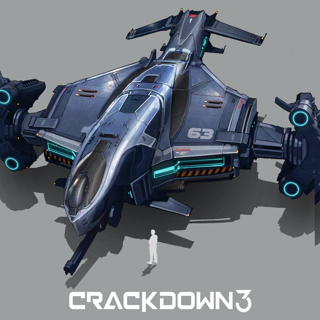 Crackdown 3 Vehicle design