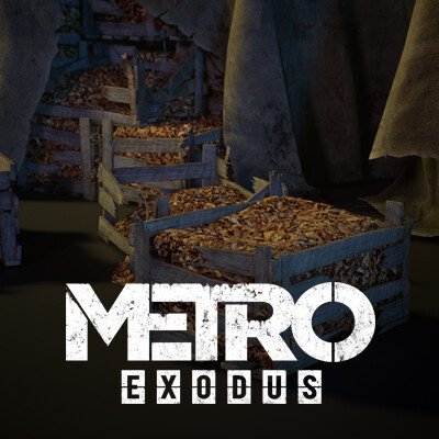 Mushrooms and boxes props set for Metro Exodus