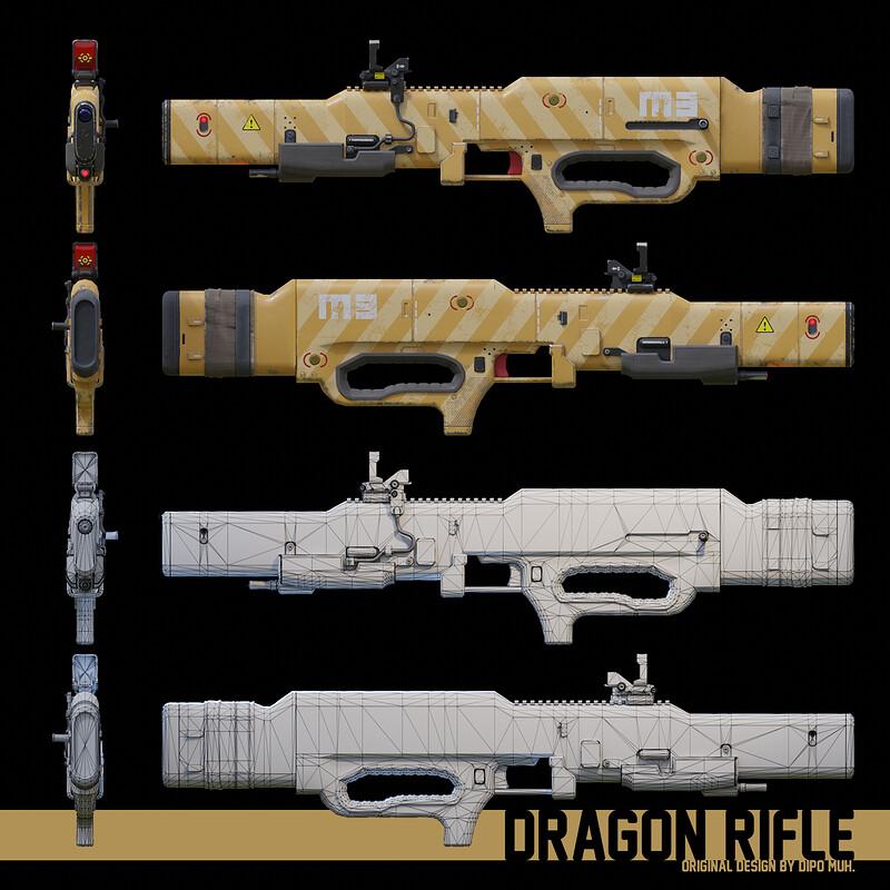 Sci-fi Laser Rifle: Dragon Rifle