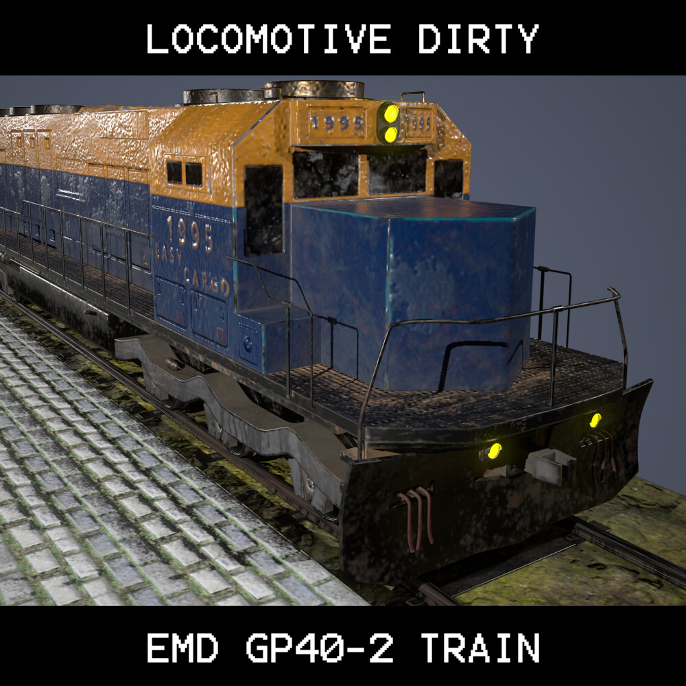 EMD GP40-2 Train Locomotive