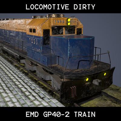 EMD GP40-2 Train Locomotive
