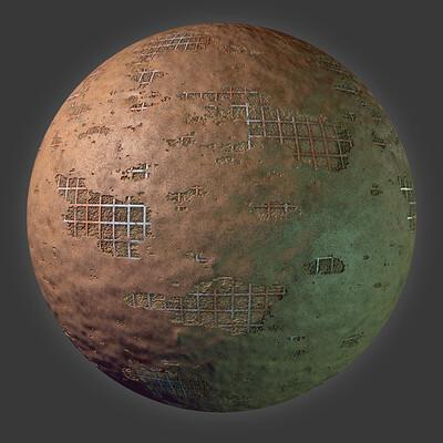 Corwin waldron plaster sphere
