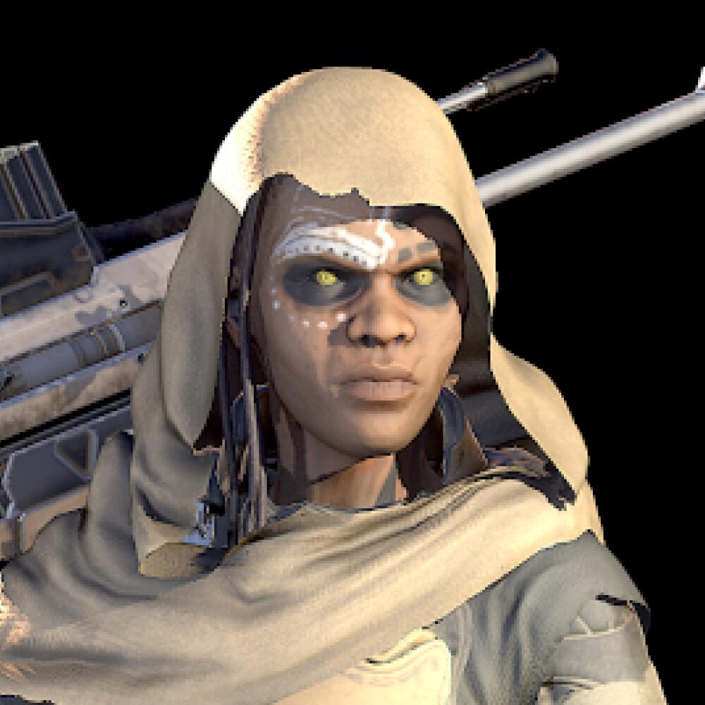 Sci-Fi Desert Sniper