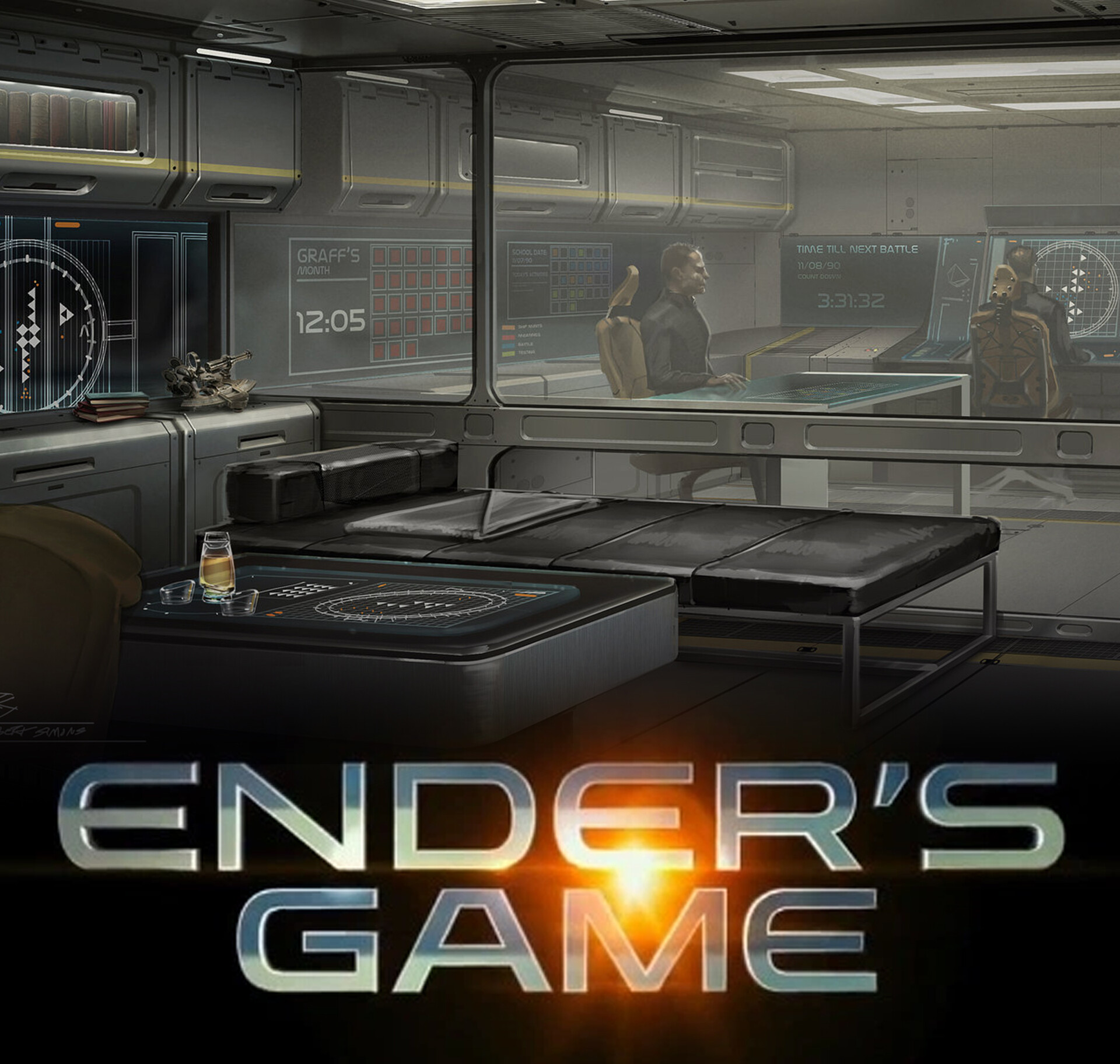 Gadget-Bot Productions - Ender's Game - Graff's office view 2