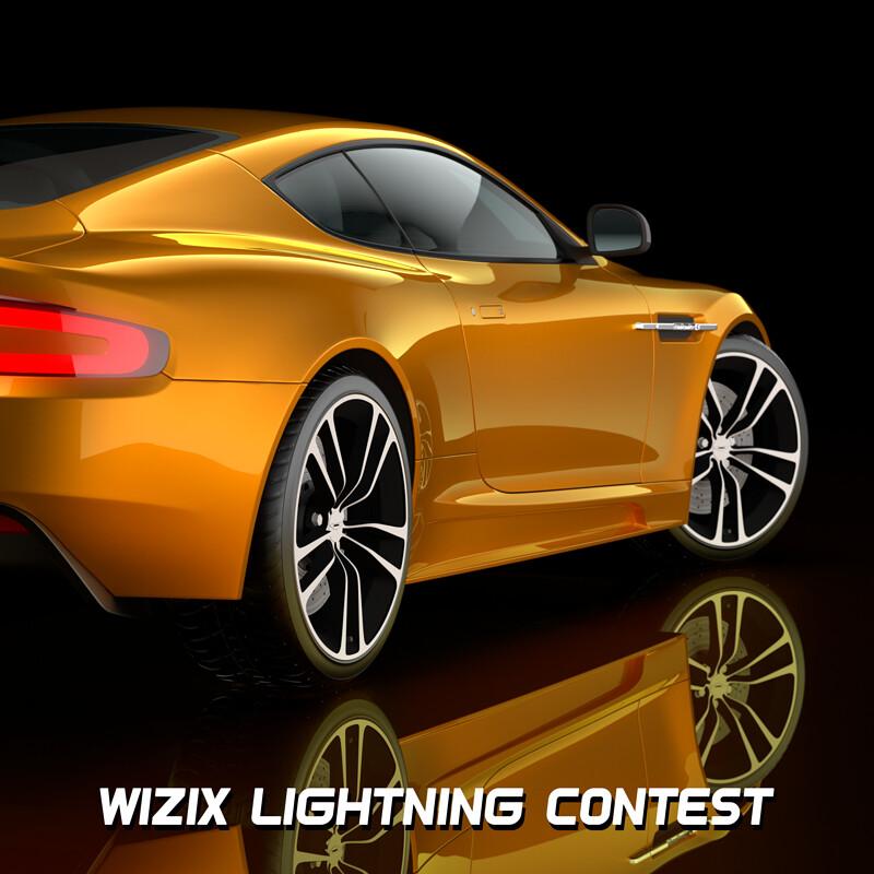 Yellow ASTON MARTIN - Lightning contest wizix
