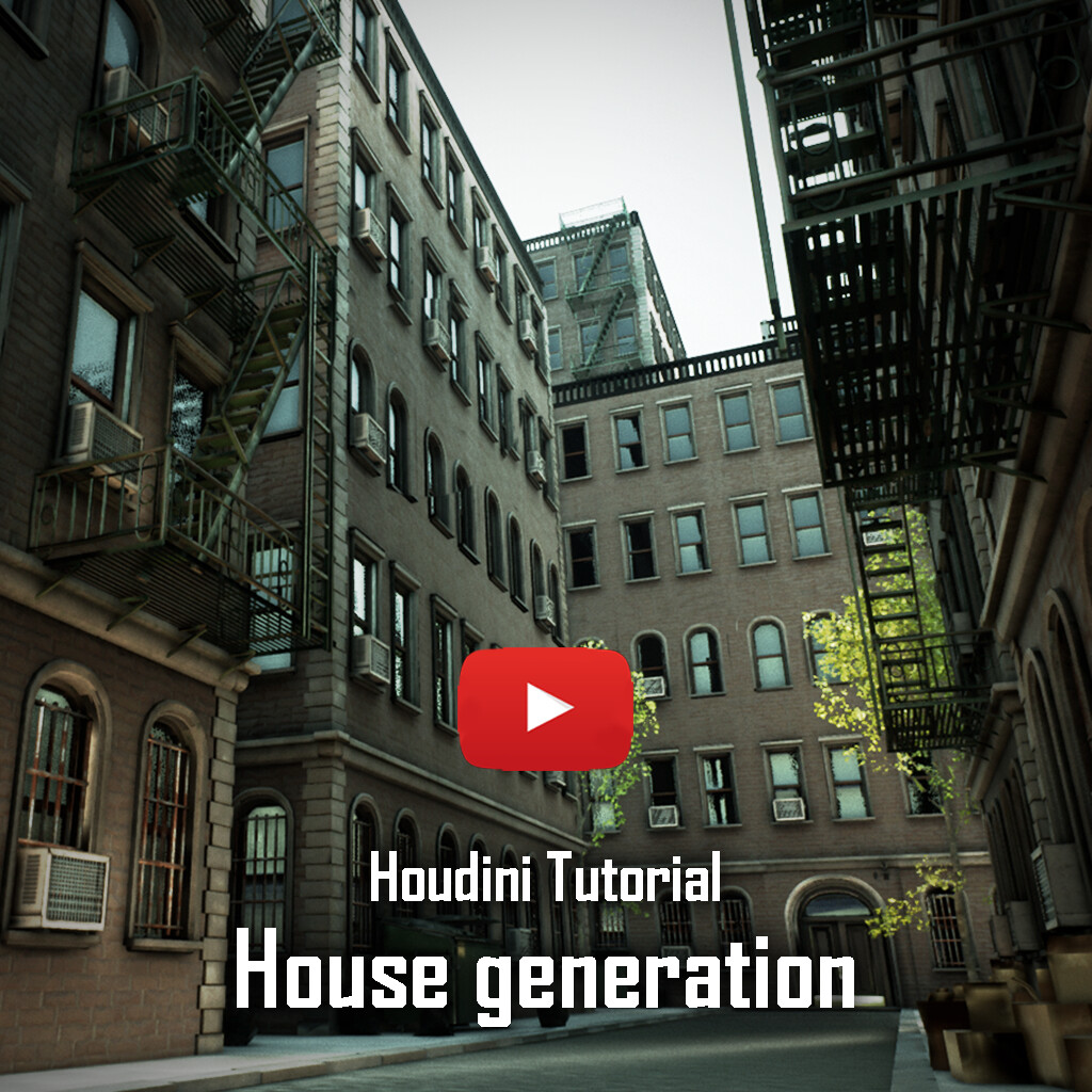 Tutorial House generator Houdini