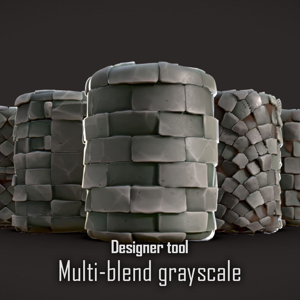 Multi-Blend Grayscale for Substance Designer
