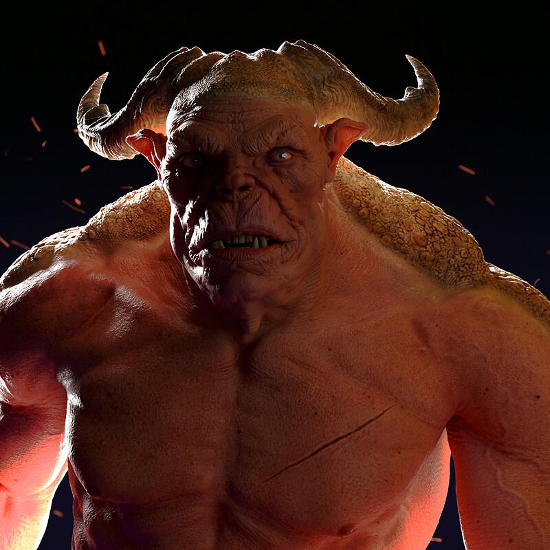 Ogre Character. Look Dev Renders