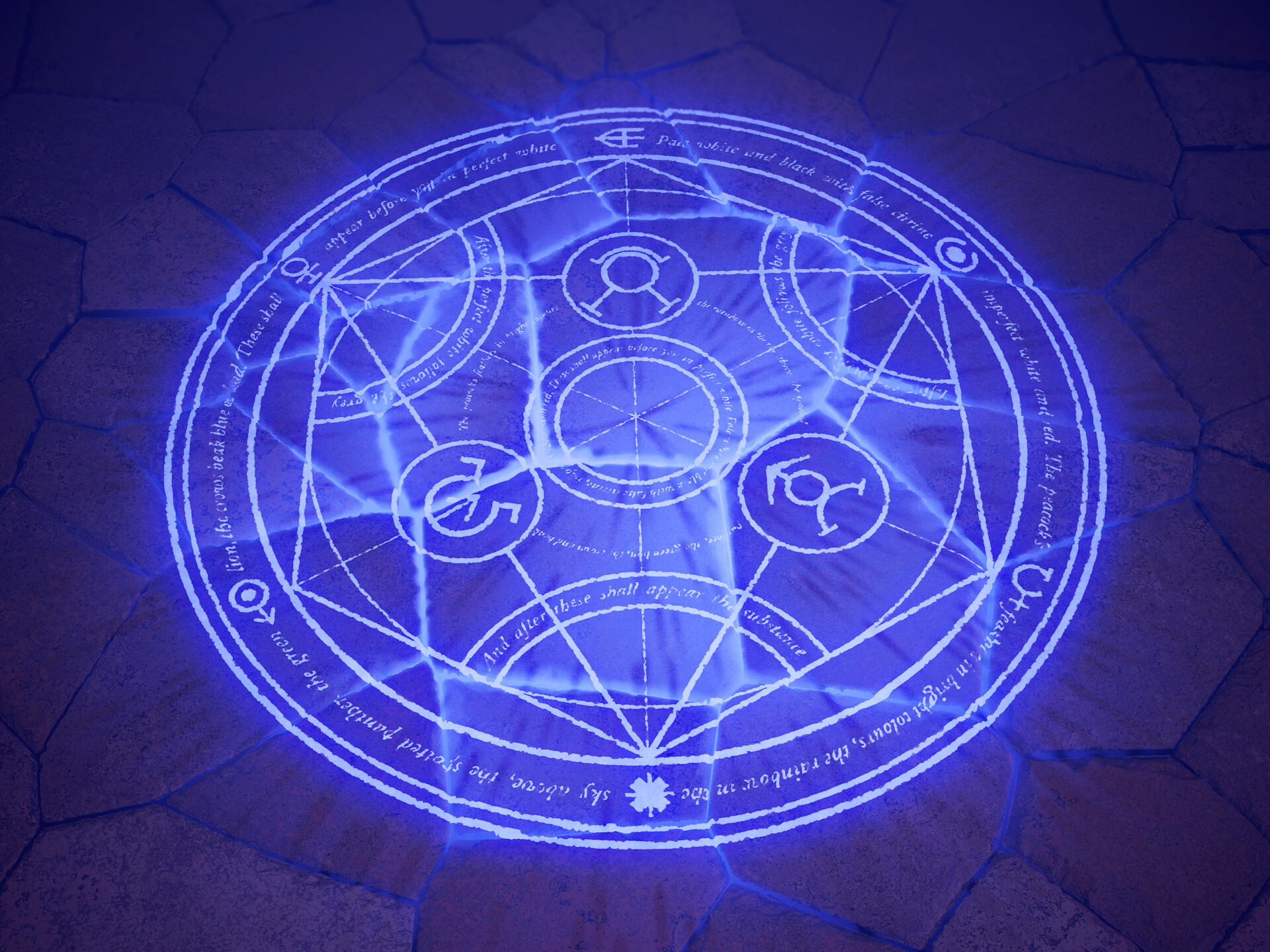 Artstation Transmutation Circle Cracked Pavement Fullmetal