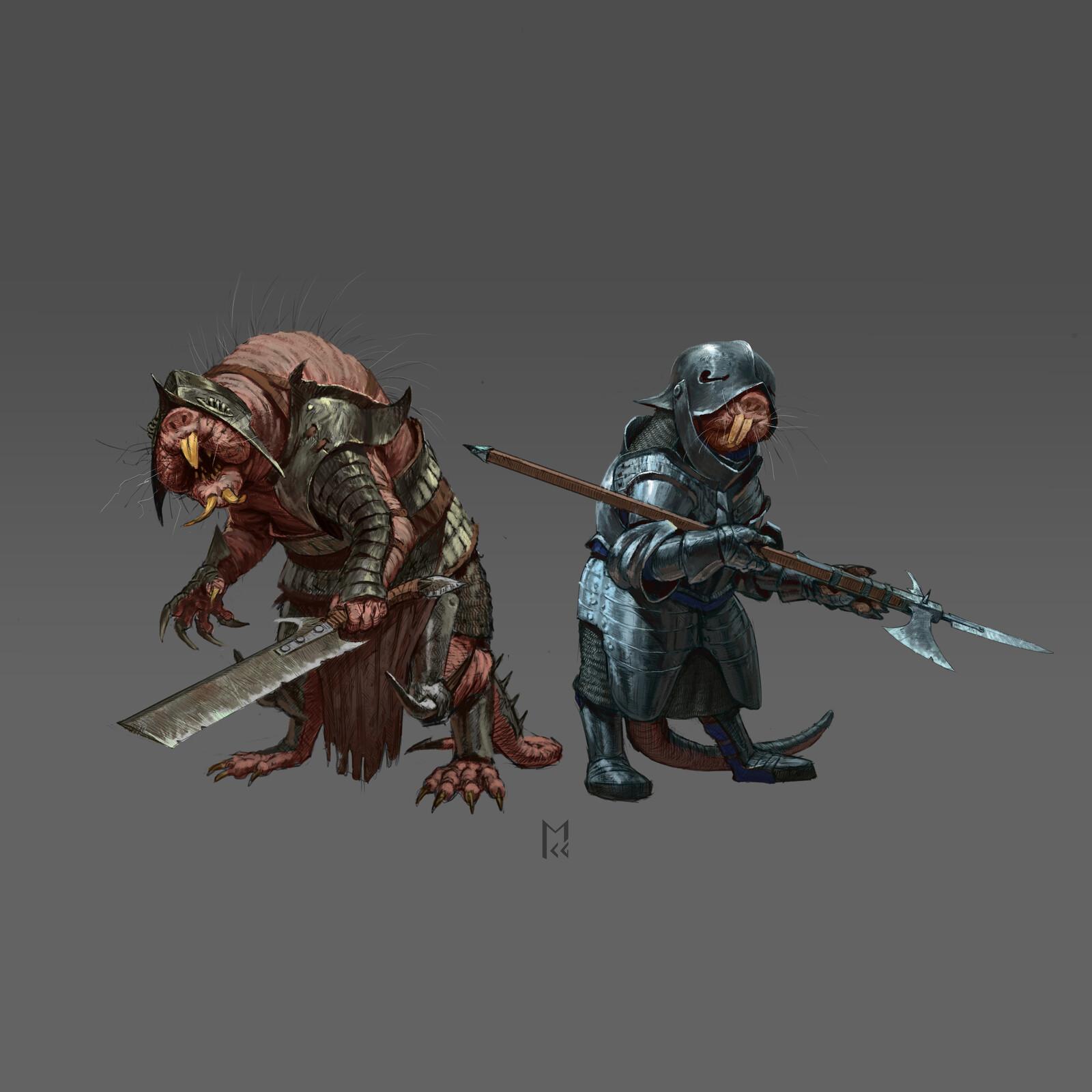 Mole rat warriors