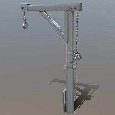 Dennis haupt animated metal hand crane 6 3dhaupt