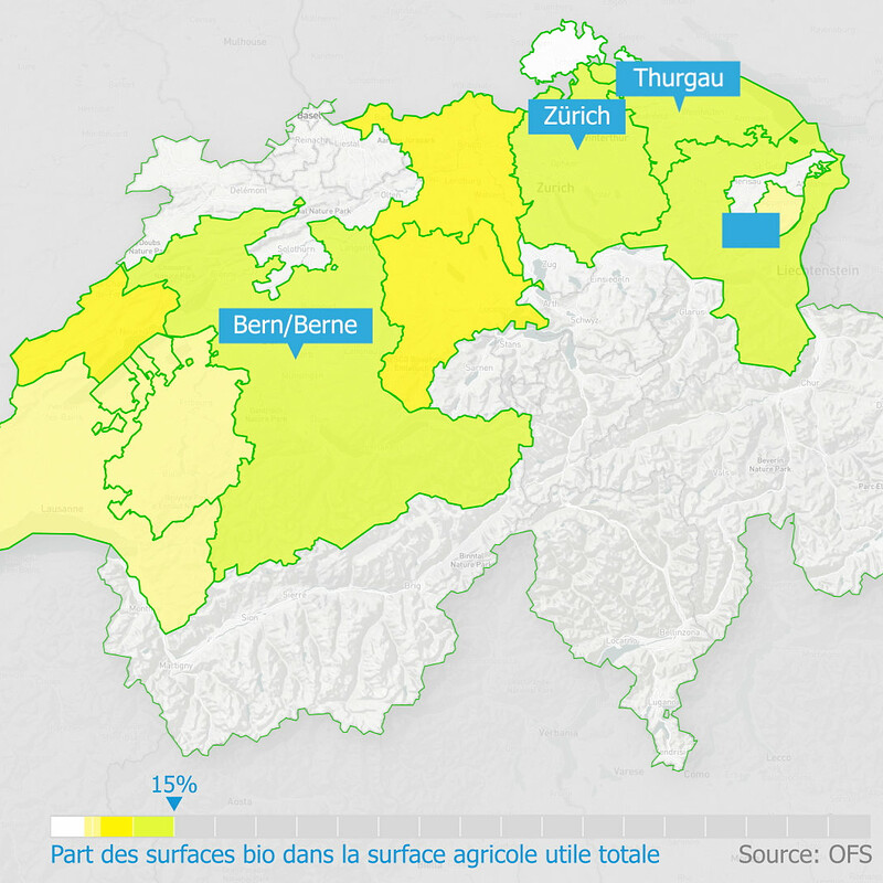 Data Visualization Swiss OFS Agriculture