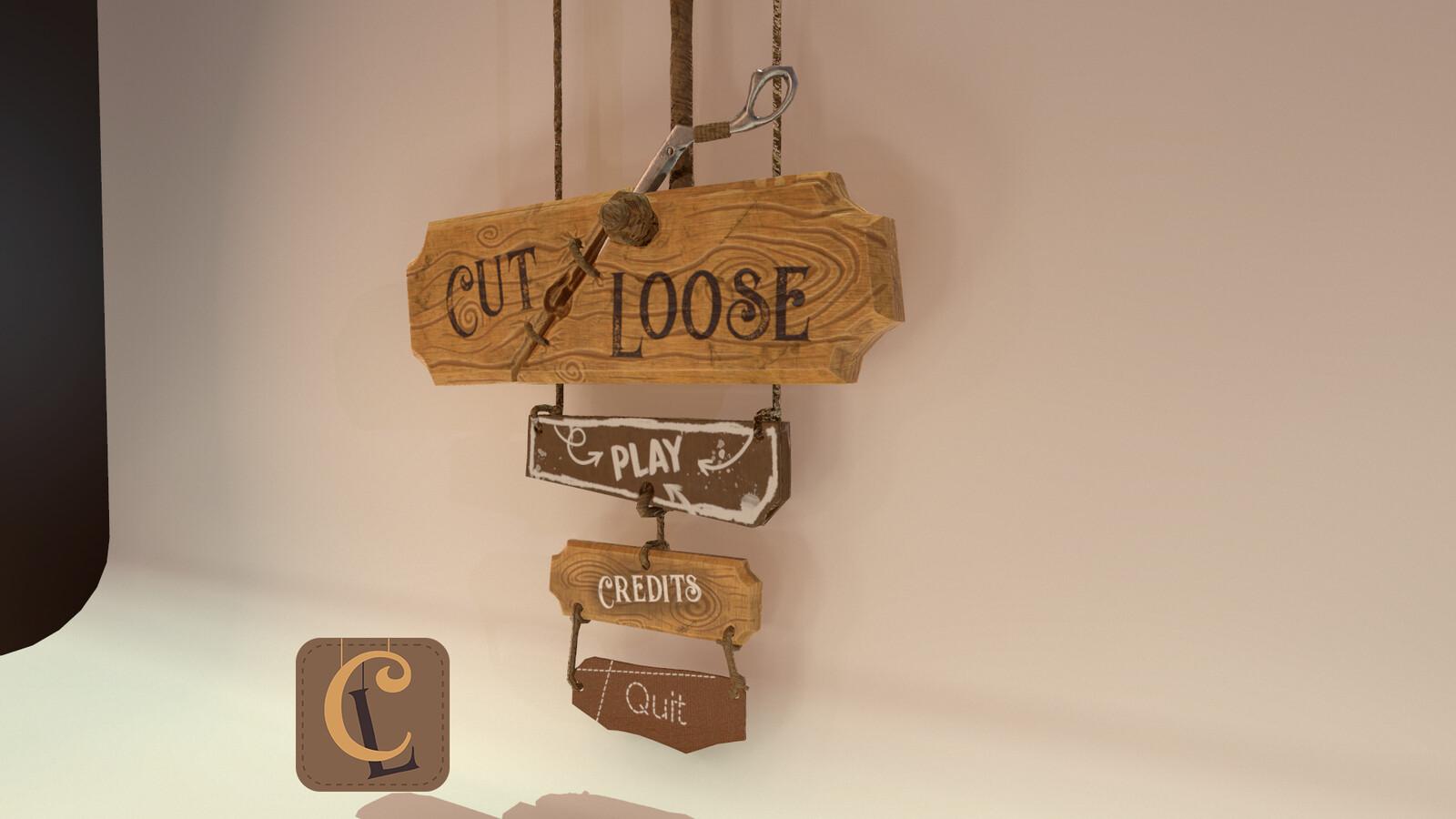 Cut Loose (Ubisoft Game Lab Competition 2019) - Main Menu