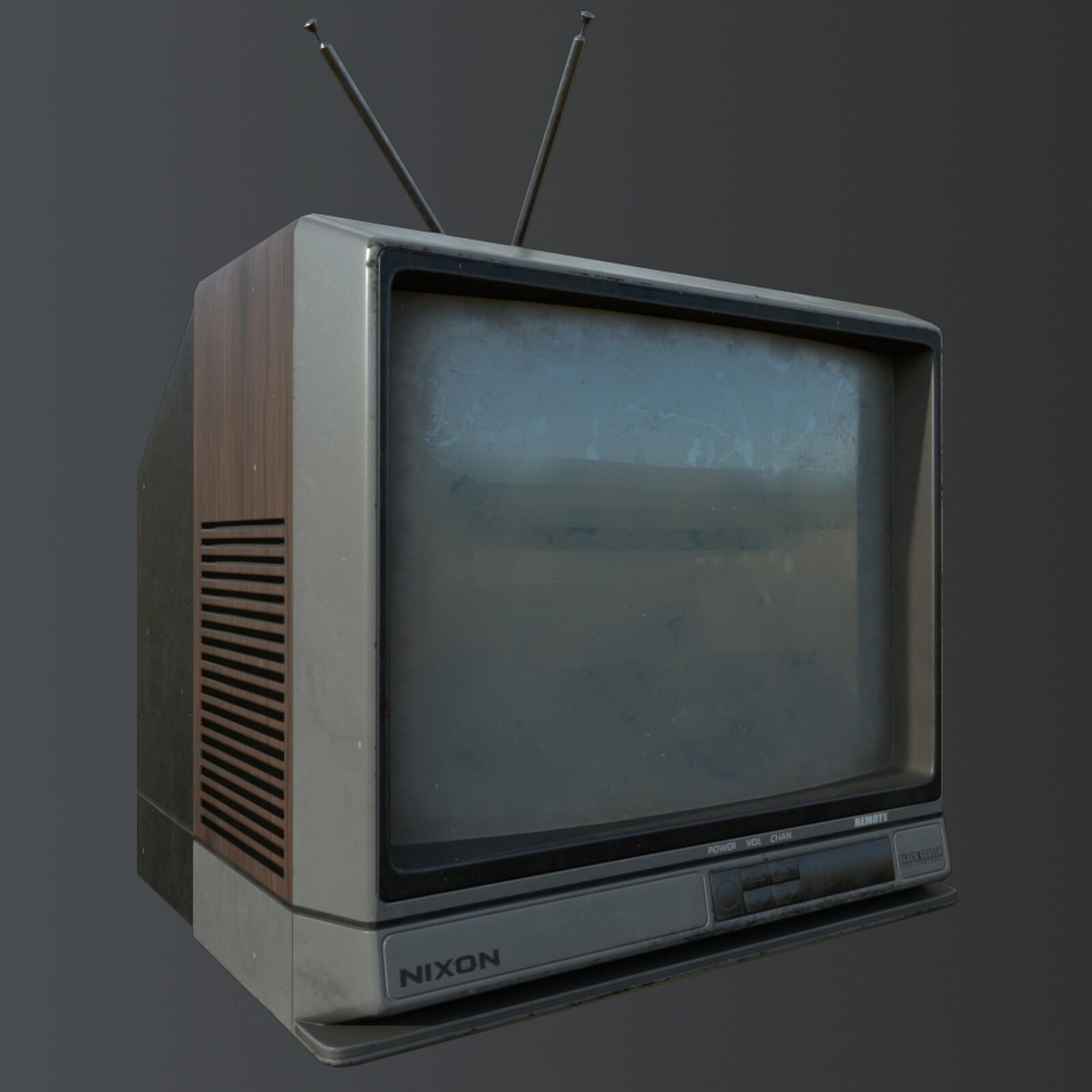 Retro TV  - game asset