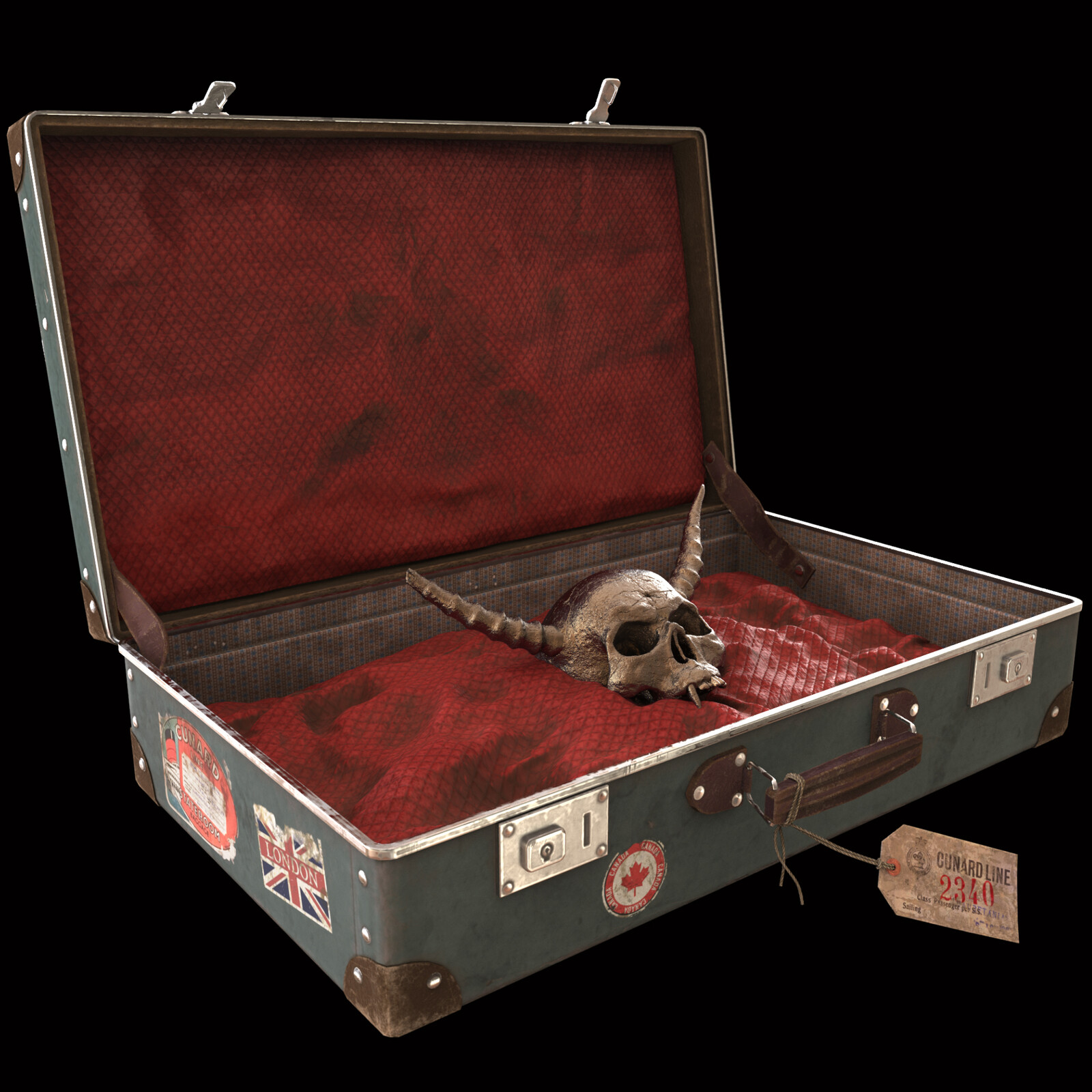 Demonic suitcase - game asset