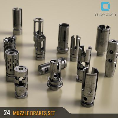 Amin akhshi cover muzzle brakes set