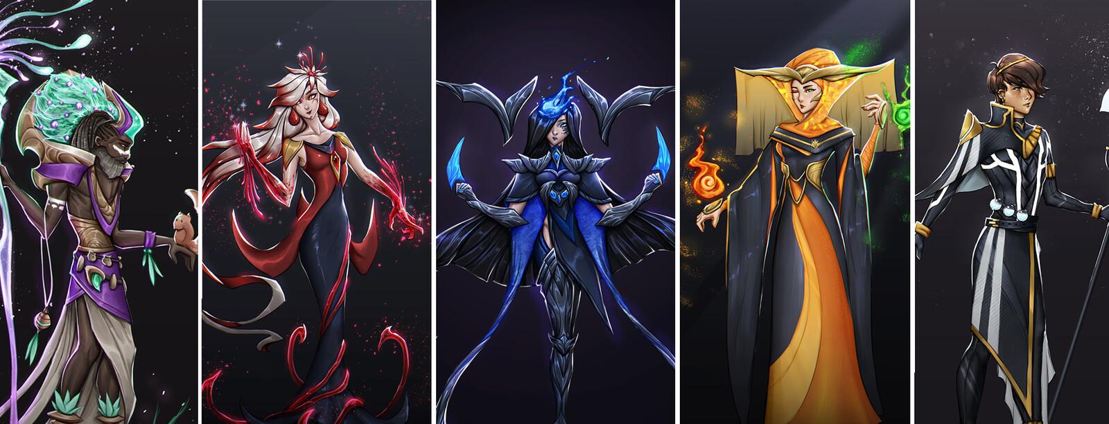 Asgaea Character Designs
