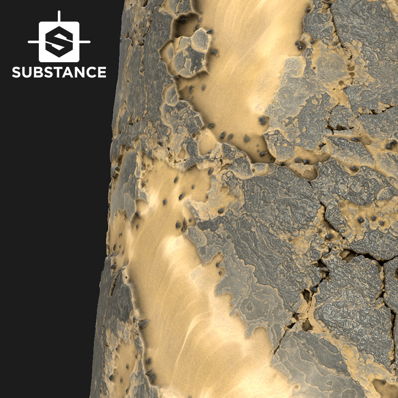Desert rock and sand Substance designer test