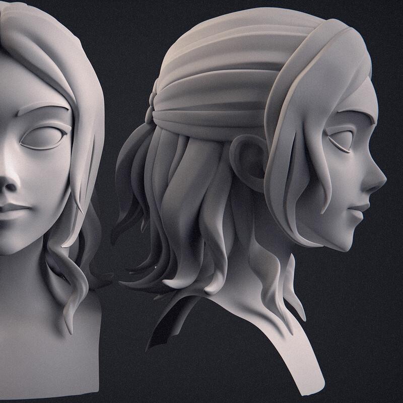 sculpt training in manga style