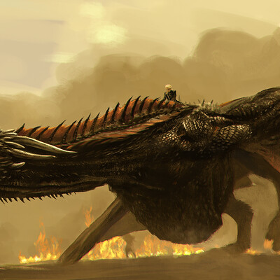 Color study, playing with DAUB brushes. Game of Thrones theme art...