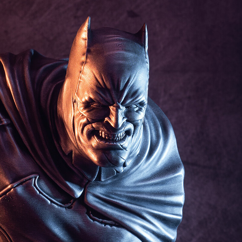 The Dark Knight bust (3D printed fan art)