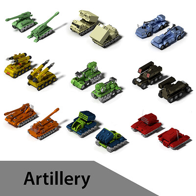 Artillery series - Low-Poly