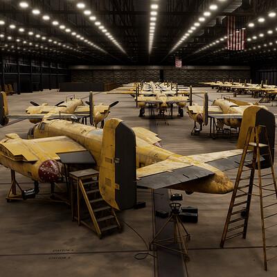 B-25 Bomber Assembly Hangar