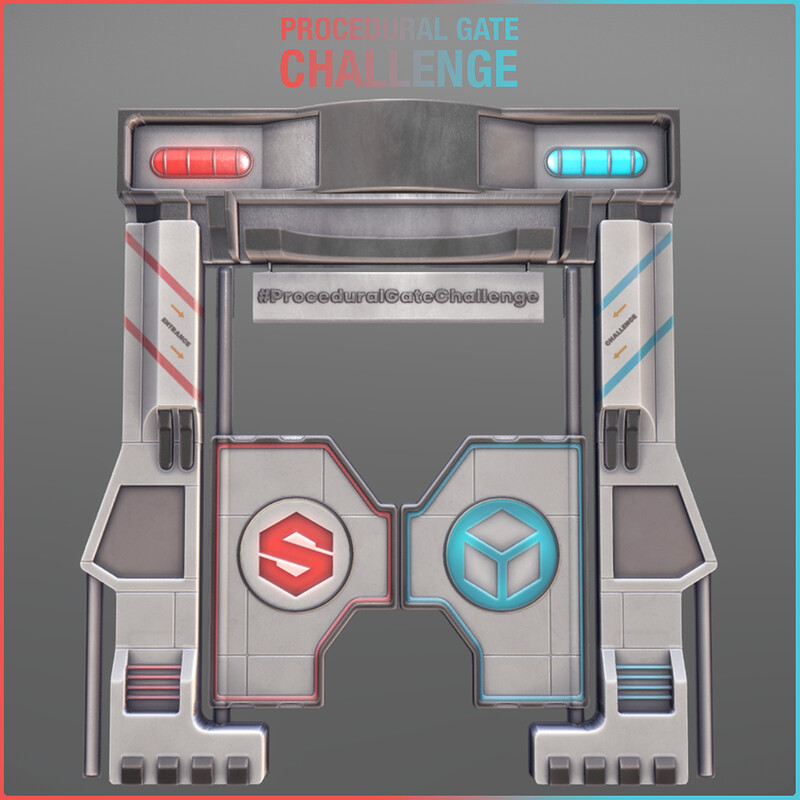 #ProceduralGateChallenge - SciFi Saloon Door