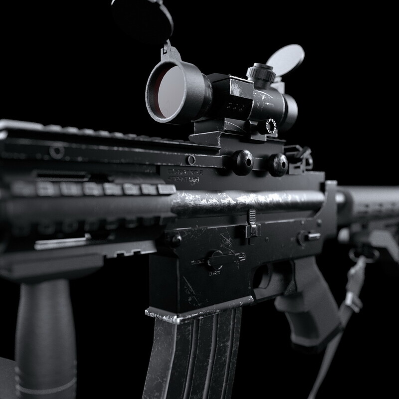 Real-time rifle model