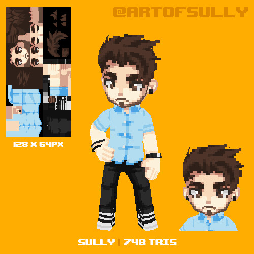 Sully Lowpoly Pixel Avatar