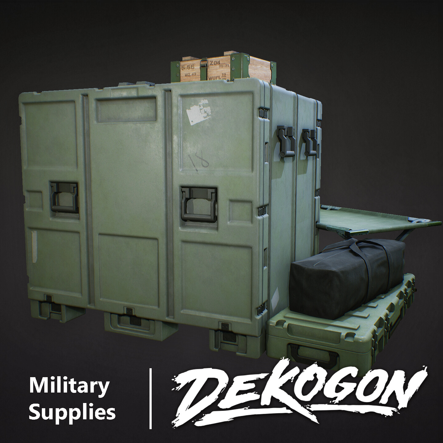 Dekogon - Military Crates and Cot
