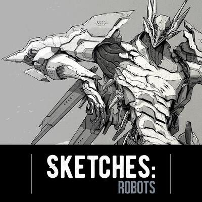 Josh matamoros sketches robots title