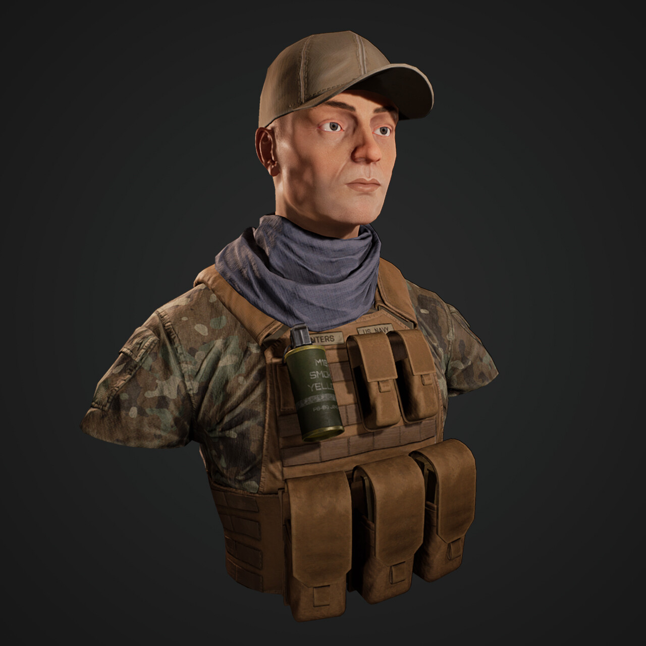 Navy Seal 'Winters' - Character Bust